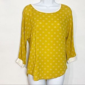 "Anthropologie Maeve ""Ayton"" polka dot top"